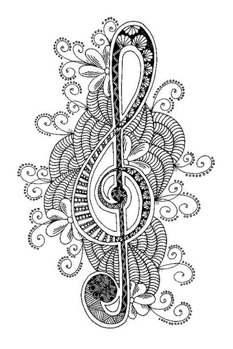 music mandala coloring pages icolor quot music quot treble clef 551x825 icolor quot music