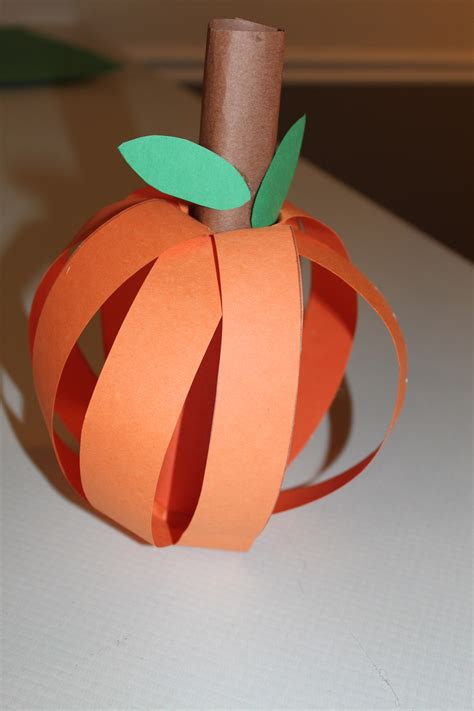 Construction Paper Pumpkin Crafts - pumpkin craft homeschool