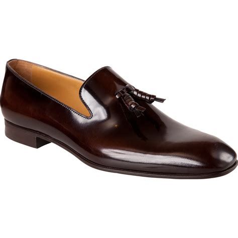 prada mens loafer prada whloecut tassel loafer in brown for lyst