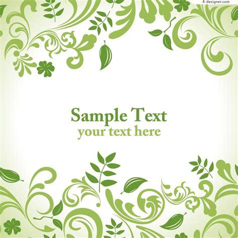 leaf pattern vector files 4 designer elegant leaf pattern design vector material
