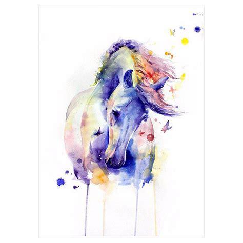 watercolor horse tattoo 1x diy temporary animals watercolor
