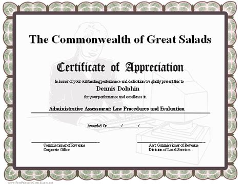 office certificate template a gray certificate of appreciation honoring a