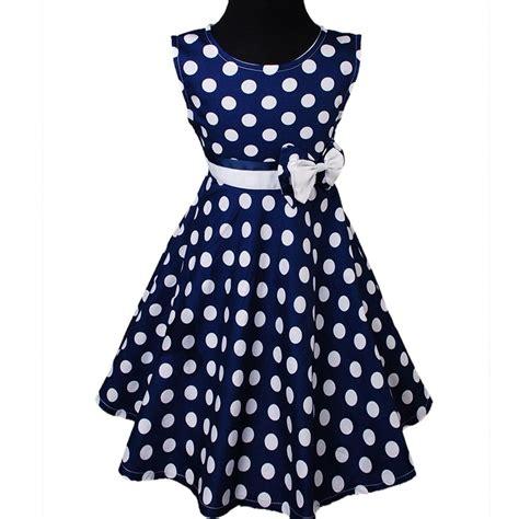 blue and white polka dot dress girls d345 navy blue girls summer cotton party floral dress