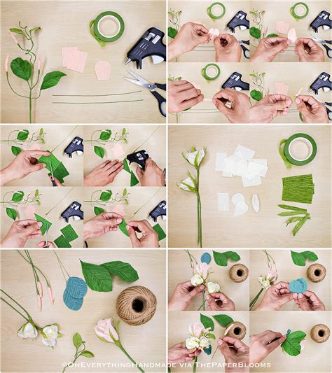 Handmade Step By Step - how to make handmade paper flowers step by step www