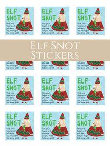 printable elf snot label free printable library down redbud drive