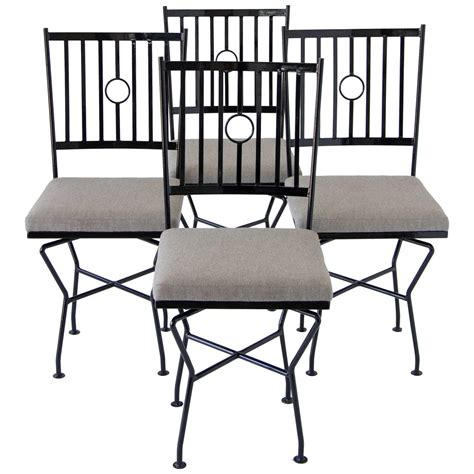 wrought iron dining room chairs set of four swivel wrought iron patio dining chairs for