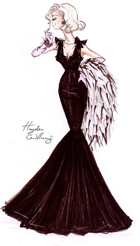 desain dress glamour hayden williams fashion illustrations october 2011