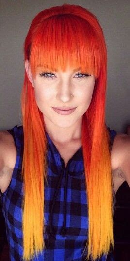 bright orange hair dye 167 best images about red orange ombre hair on pinterest