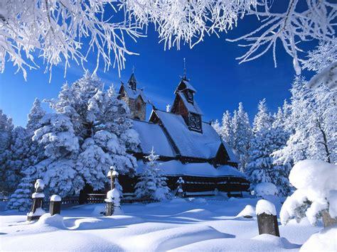 fotos invierno paisajes fonditos templo wang polonia paisajes invierno