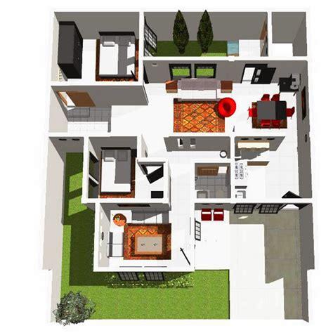 20 Desain Inspiratif Rumah Tumbuh Tipe 21 36 M2 denah rumah minimalis type 36 45 54 60 70 80 100