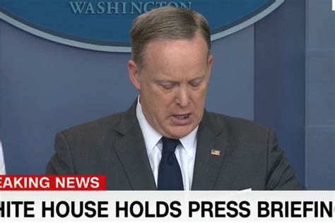 sean spicer last press conference twitter goes wild over something in sean spicer s teeth