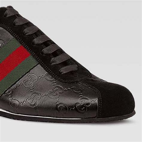 gucci sneakers gucci icon lace up sneakers black guccissima leather