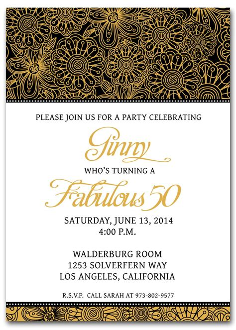 50th Birthday Invitation Templates Free Printable My Birthday In 2019 Birthday Invitation 50th Anniversary Templates Free