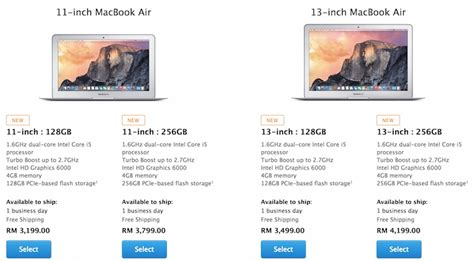 Laptop Macbook Air Malaysia apple increases the price of its macbook air and macbook pro in malaysia lowyat net