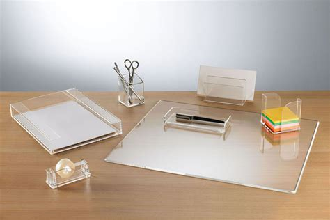 Glass Desk Accessories Sets Clarys Desktop Accessories Desks International Your Space Our Product