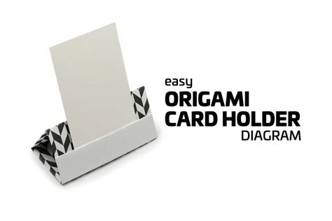 Origami Business Card Holder - easy origami card stand tutorial