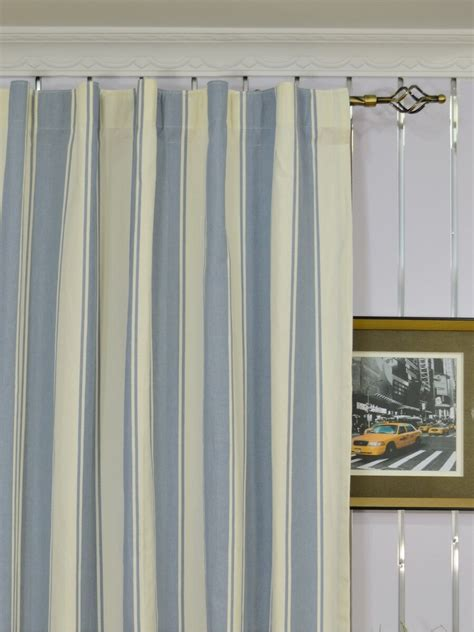 curtains 108 inches long moonbay stripe back tab cotton extra long curtains 108