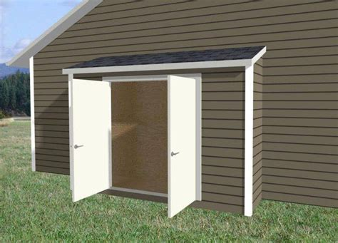 narrow storage shed  side house design house plans