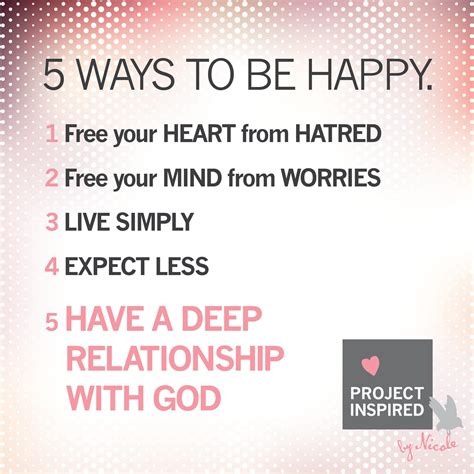 5 Ways To Be Nicer To Your 5 ways to be happy project inspired