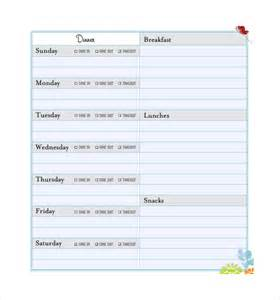 Meal Planner Template by Sle Meal Planning Template 15 Free Documents