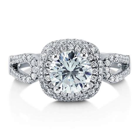berricle sterling silver cut cz halo engagement ring