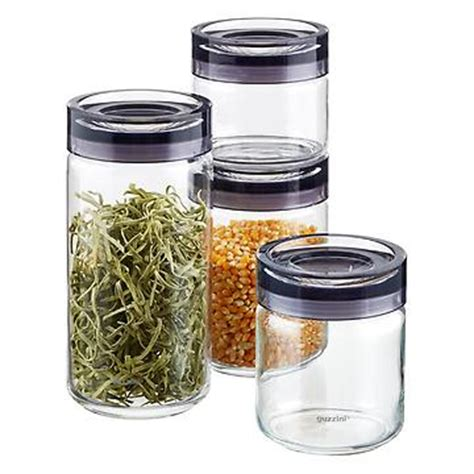 Glass Kitchen Canister Set food storage food containers airtight storage amp mason