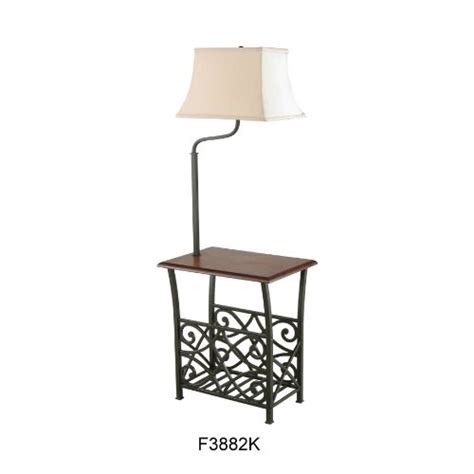 end table with light attached side tables with ls attached