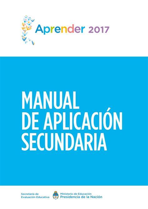 manual de percepciones cjf 2017 manual de aplicaci 243 n secundaria aprender 2017
