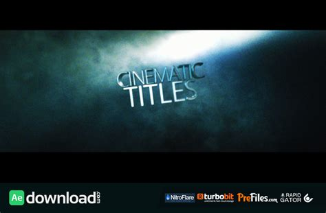 After Effects Title Templates by Cinematic Title Videohive Project Free Free