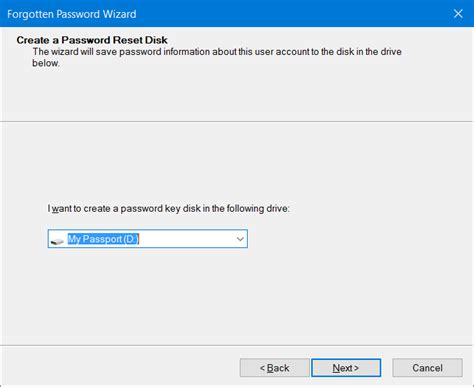 windows 10 password reset disk how to create password reset disk on usb drive in windows 10