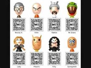 3ds mii qr codes youtube