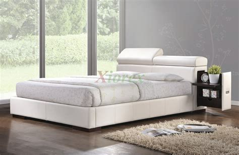 upholstered platform bed furniture w storage headboard 185