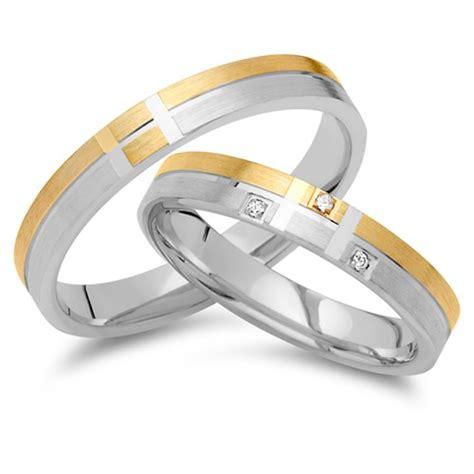 Eheringe 585er Gold by Eheringe 585er Gelb Weissgold 3 Brillanten Ehe0260 5s