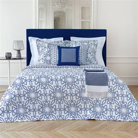 Buy Quilt Covers by Buy Yves Delorme Entrela Duvet Cover Marine Amara