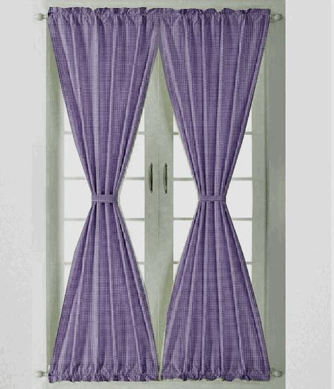 purple gingham curtains purple gingham check french door curtains