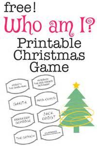 Free printable christmas game who am i