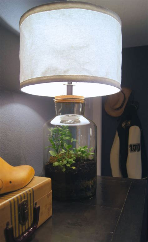 Handmade L Shade - handmade collapsable canvas shade and terrarium from a 50