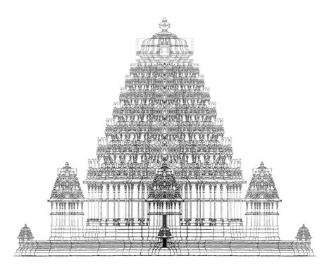 indian temple architecture drawings hindu temple india architect design hindu temple