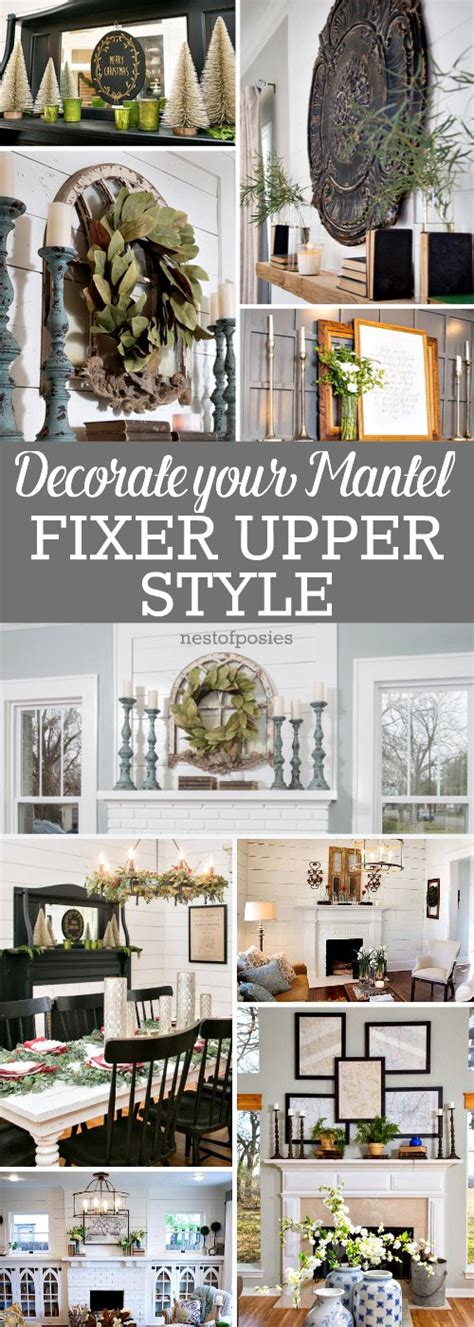 How To Decorate by How To Decorate Your Mantel Fixer Style Nest Of Posies