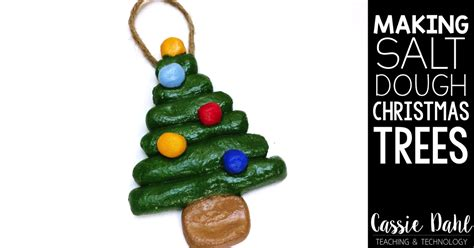 making salt dough christmas tree ornaments cassie dahl