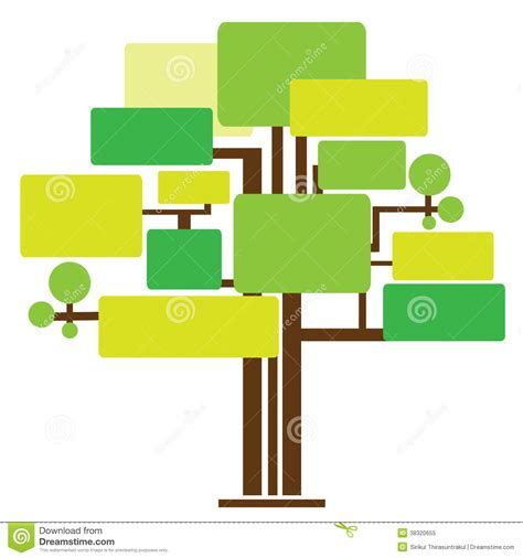 illustrationn of tree template royalty free stock photo
