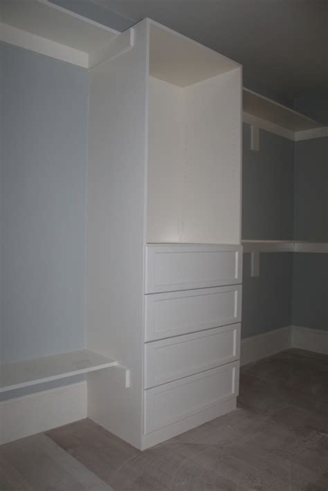 master bedroom closet custom home finish
