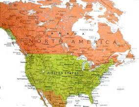map western canada and usa my