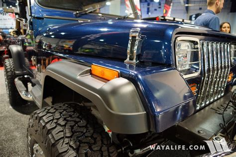 sema jeep yj 2017 sema rugged ridge blue jeep yj wrangler