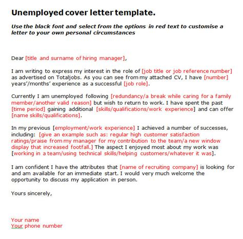 unemployed cover letter 15 best cover letter template format free premium