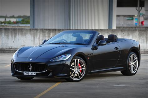 maserati grancabrio black maserati grancabrio mc now on sale in australia from