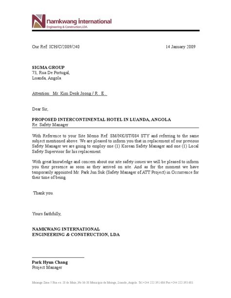 Explanation Letter For Safety Sle Reply To Memo