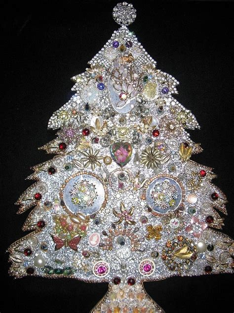 rhinestone tree christmas trees made out of costume
