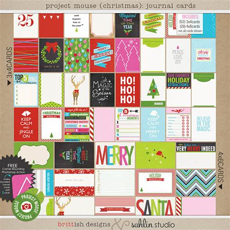 design studio journal project mouse christmas journal cards by britt ish