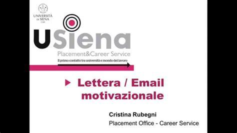 lettere motivazionale la lettera motivazionale